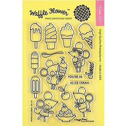 Sweet Ice Cream Waffle Flower Stamp