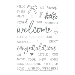 WELCOME HOME | 4X6 STAMP SET