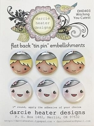 Witching You Cutest Tin Pins