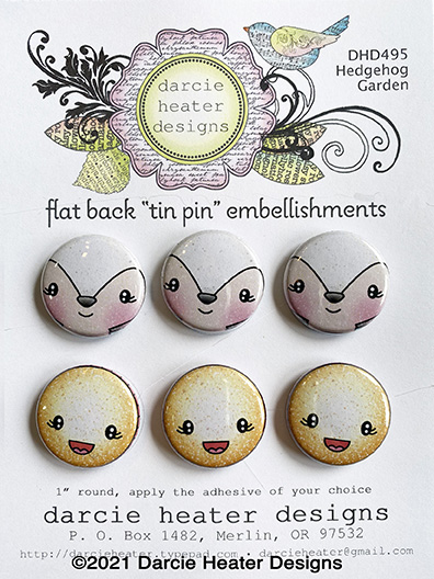 Hedgehog Garden - Tin Pins