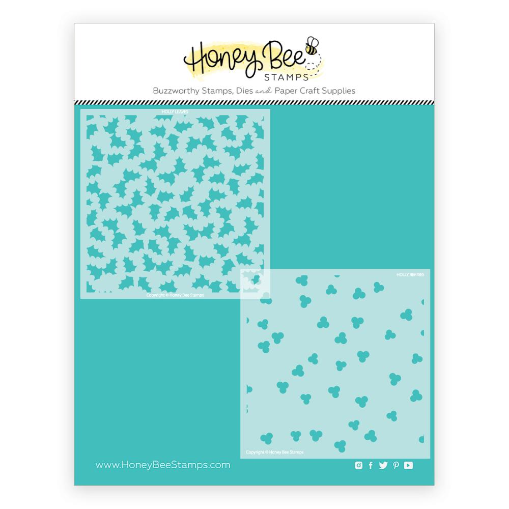 Holly and Berries | Stencils | Set of 2