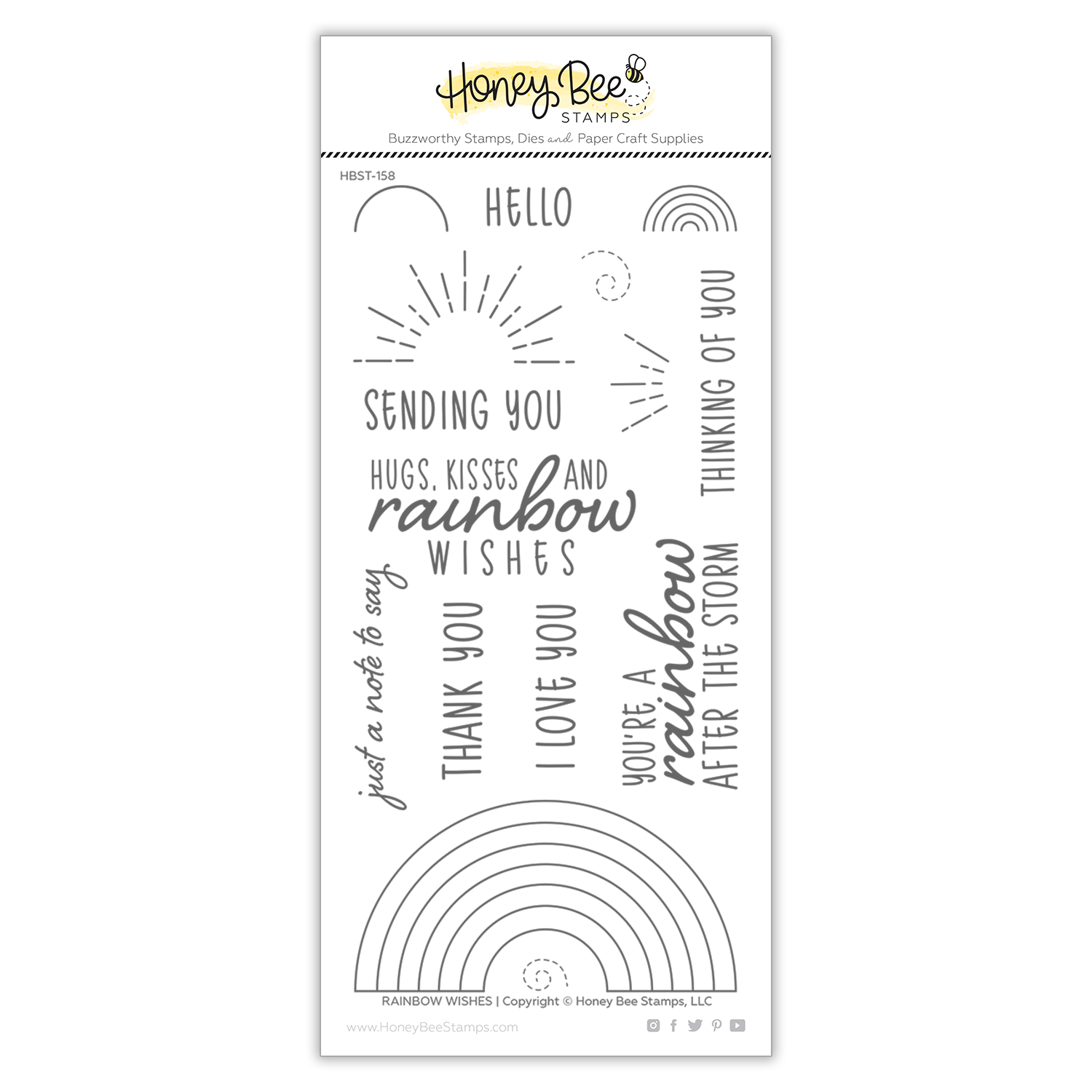Rainbow Wishes | 4x8 Stamp Set