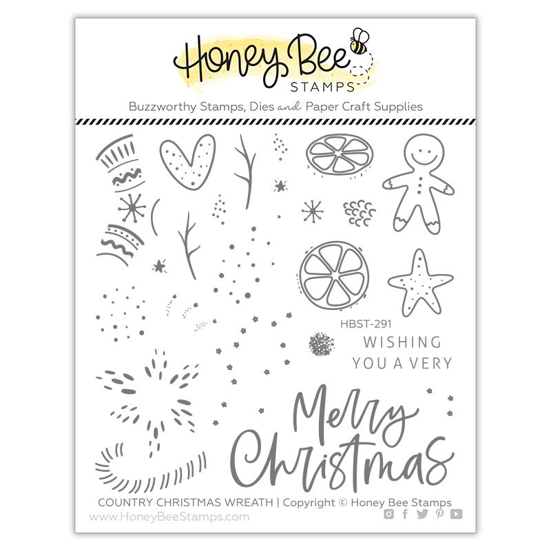 Country Christmas Wreath | 4x4 Stamp Set