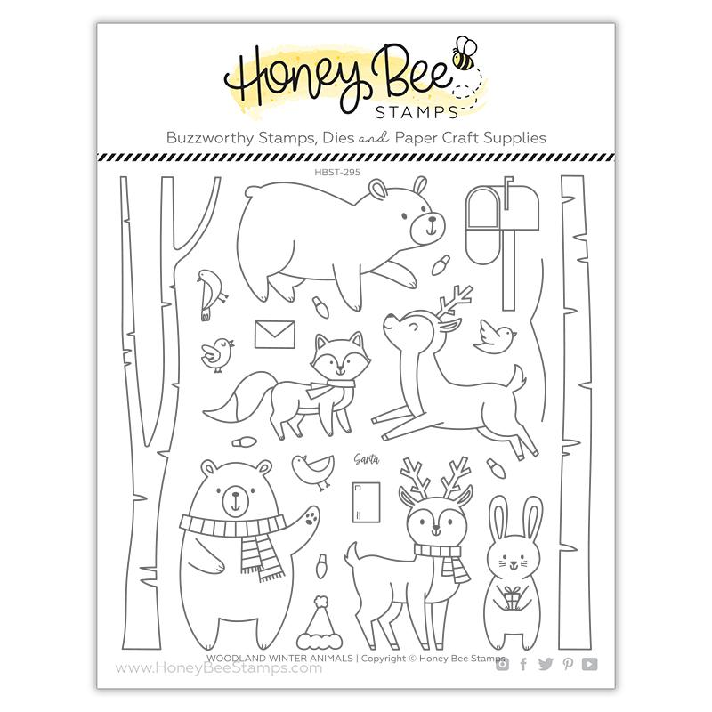 Woodland Winter Animals | 6x6 Stamp Set