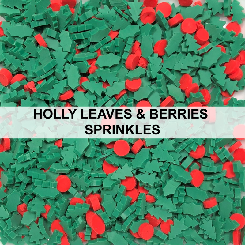 Holly Leaves & Berries Sprinkles by Kat Scrappiness