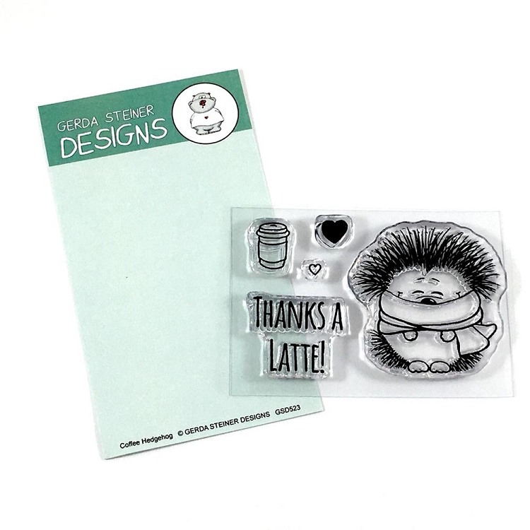 Coffee Hedgehog Clear Stamp Set