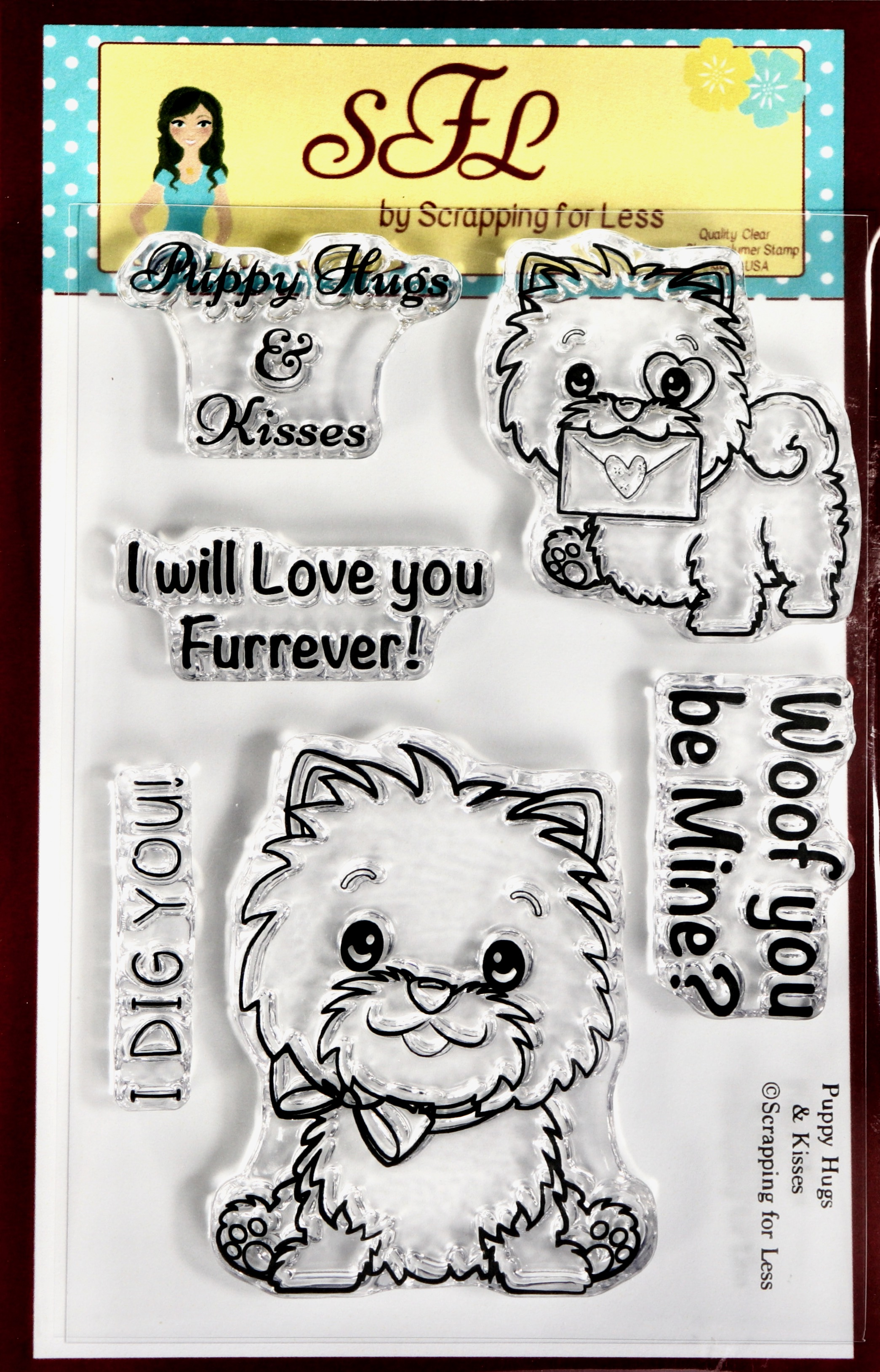 Puppy Hugs & Kisses - SFL Clear Stamp