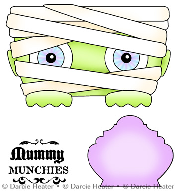 MUMMY MUNCHIES- CLEAR STAMP