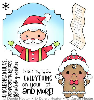 Santa's List - Clear Stamp