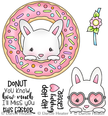 Donut Miss Easter - Clear Stamp
