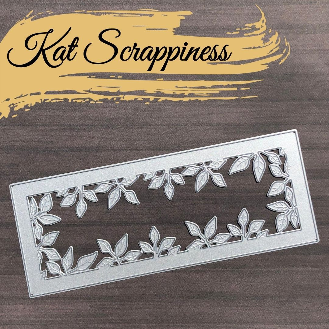 Slimline Foliage Frame Die by Kat Scrappiness