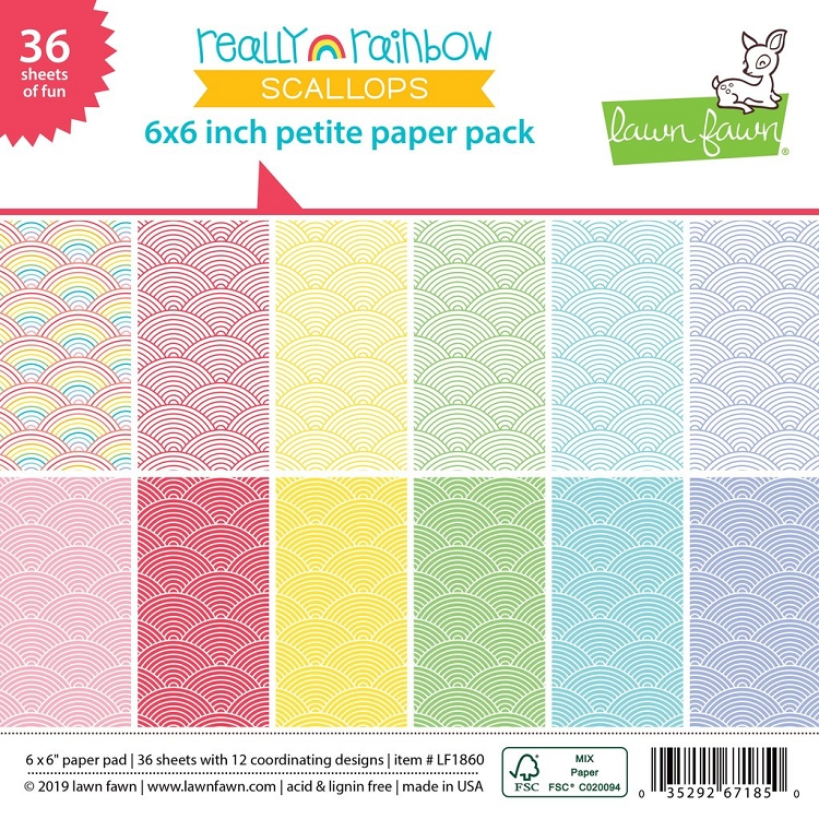 really rainbow scallops petite paper pack