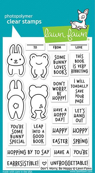 don't worry, be hoppy stamp
