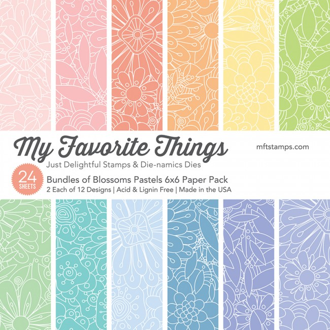 Bundles of Blossoms Pastels Paper Pad