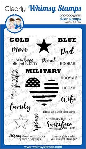 Military Family Clear Stamps