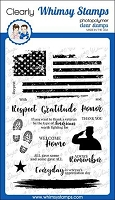 Military Heroes Clear Stamps