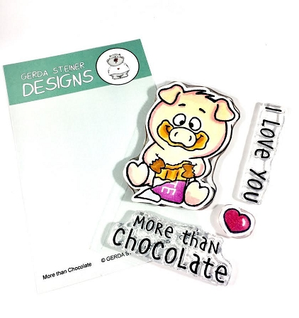 More Than Chocolate 3x4 Clear Stamp