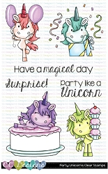 Party Unicorns Clear Stamps