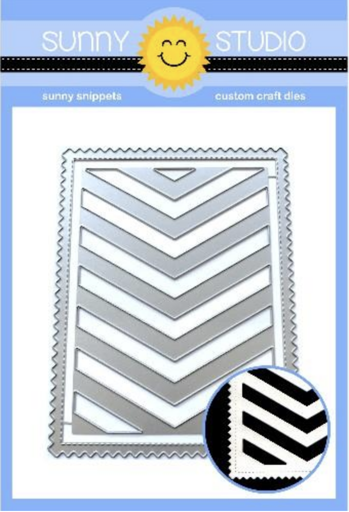 FRILLY FRAMES CHEVRON DIES
