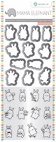 Mini Bunny Agenda Mama Elephant Clear Stamp & Die Set