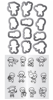 Mini Boy Agenda Mama Elephant Clear Stamp & Die Set