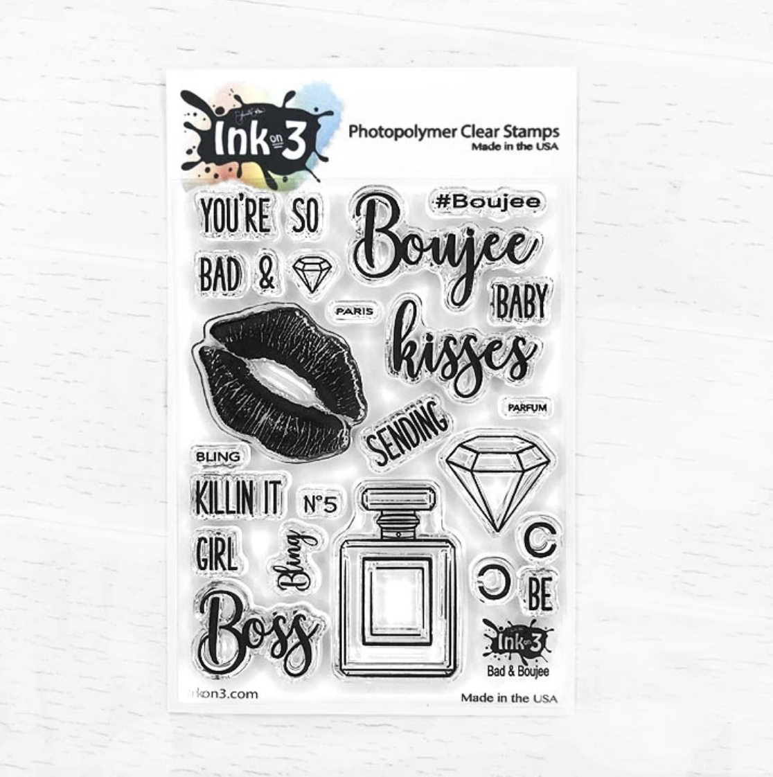 Bad & Boujee 3x4 Clear Stamp Set
