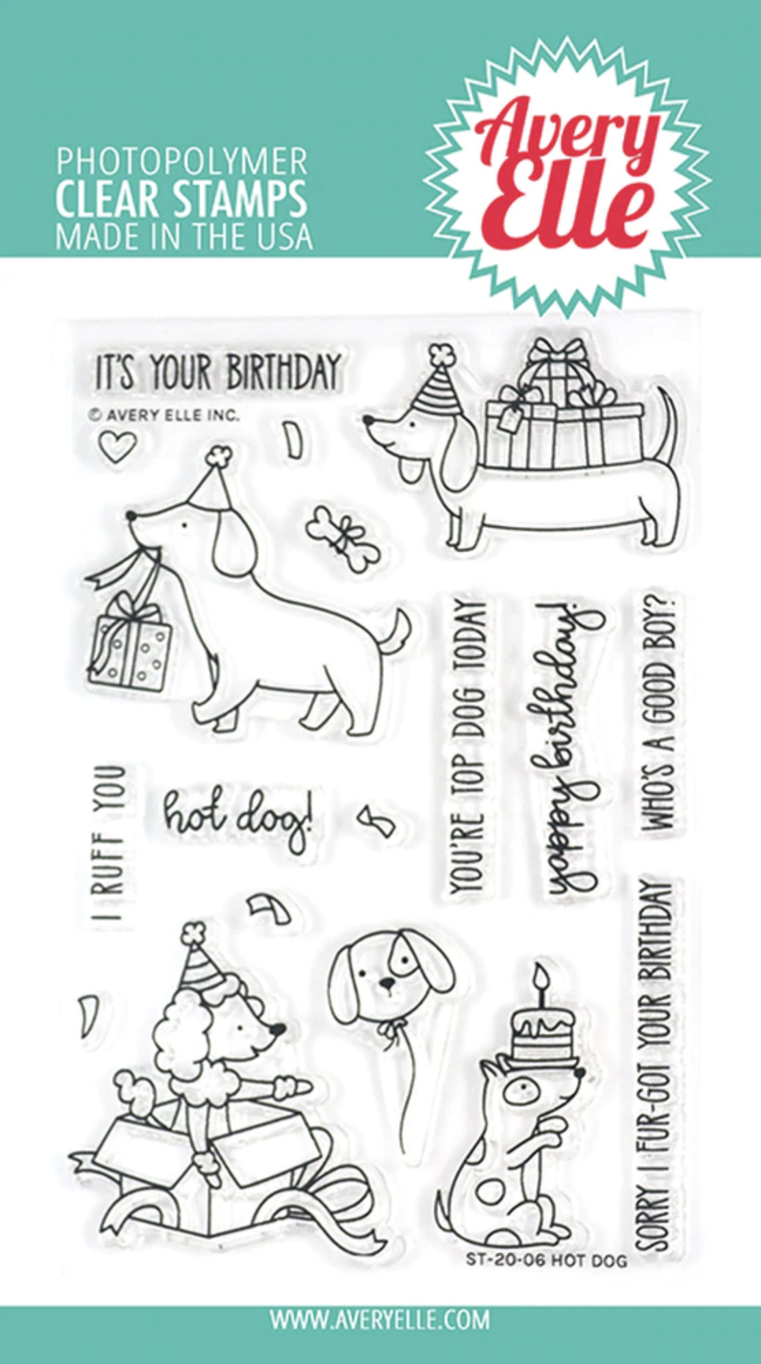 Hot Dog Clear Stamps