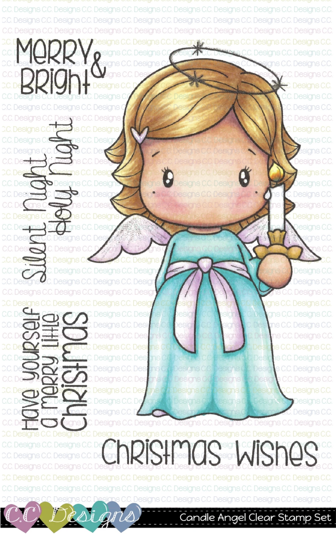 CANDLE ANGEL SWISSIE CLEAR STAMP SET