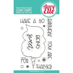 Cotton Candy Avery Elle Clear Stamp Set