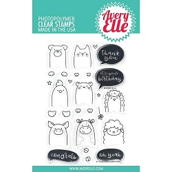 Peek-A-Boo Pets Avery Elle Clear Stamp Set