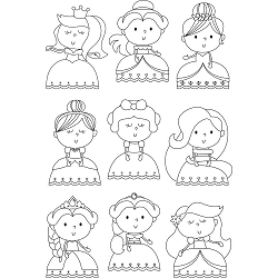 Little Princess Photopolymer Clear Stamps