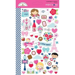 French Kiss Doodlebug Mini Stickers