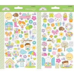 Simply Spring Doodlebug Mini Cardstock Stickers