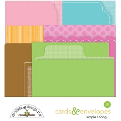 Simply Spring Doodlebug Cards & Envelopes