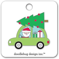 Here Comes Santa, Christmas Magic Doodlebug Collectible Enamel Pin