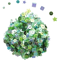 Blossom W/Green Dress My Crafts Sequins 25gms