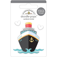 Bon Voyage, I Heart Travel Doodle-Pops 3D Stickers