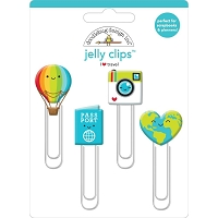 I Heart Travel Doodlebug  Jelly Clips 4/Pkg