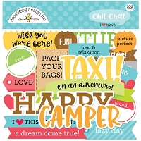 I Heart Travel, Doodlebug Odds & Ends Chit Chat Die-Cuts