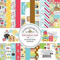 I Heart Travel, Doodlebug Double-Sided Paper Pad 6