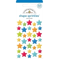 You're A Star, School Days Sprinkles Adhesive Enamel Shapes