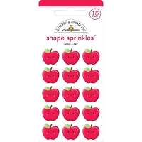 Apple A Day, School Days Sprinkles Adhesive Enamel Shapes