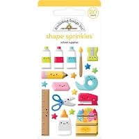 School Supplies, School Days Sprinkles Adhesive Enamel Shapes