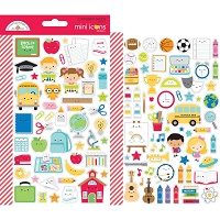 School Days Icons Stickers