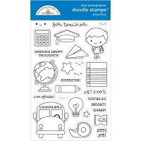 School Boy, School Days Clear Doodle Stamps