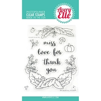 Fall Foliage Clear Stamp
