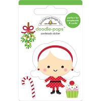 MRS CLAUS, Christmas Magic 3D Pops Sticker