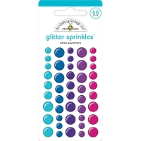 Winter Assortment, Winter Wonderland Adhesive Glitter Enamel Dots
