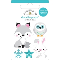 Foxy & Friends, Winter Wonderland Doodle-Pops 3D Stickers