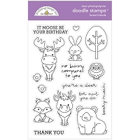 Forest Friends, Winter Wonderland Doodlebug Clear Doodle Stamps